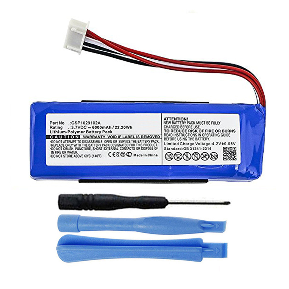 GSP1029102A Battery Replacement for JBL Charge 3 2016 Speaker 6000mAh