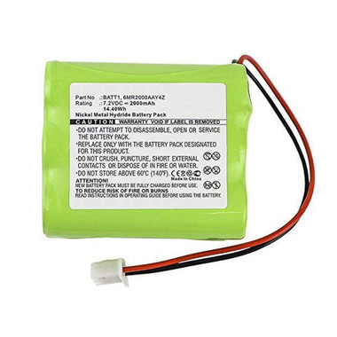 BATT1 228844 6MR2000AAY4Z Battery for 2GIG Go Control Panel Alarm