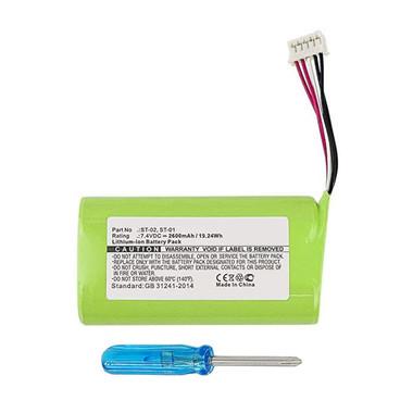 2600mAh ST-01 ST-02 Battery for Sony SRS-XB2 SRS-X3 Bluetooth Speaker
