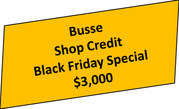 2020 Black Friday Shop Credit $3,000 You Save $450.00, That's a 15% discount
