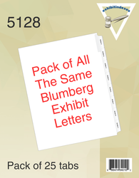 Blumberg Exhibit Indexes Side Tab Alphabetical