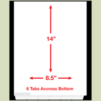 Blank Bottom LEGAL SIZE Sets Reinforced Tab 6 Division
