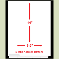 Blank Bottom LEGAL SIZE Sets Reinforced Tab 5 Division