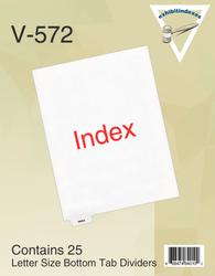 25 Index Tabs per pack, left position
