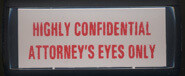 Highly Confidential Attorney's Eyes Only Stamp