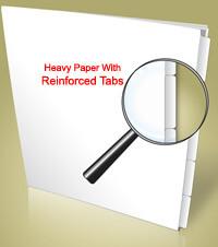 Blank Side 1/8th Cut Laminated Tab Sets