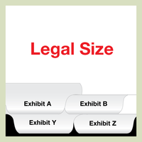 LEGAL SIZE Bottom Exhibit Set A-Z