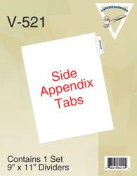 Appendix, top position