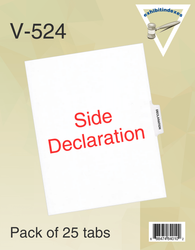 Side Declaration Tabs