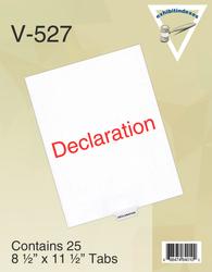 Pack of Bottom Declaration Tabs