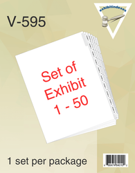 Exhibit Dividers 1-50