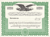 Stock Certificates With Free Shipping