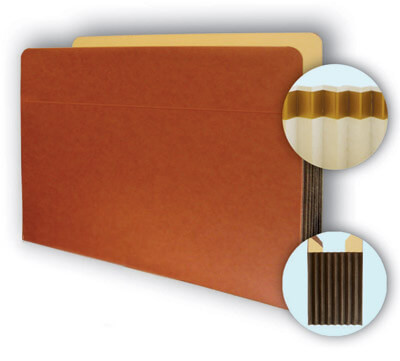 Legal size file pocket with tear proof sides