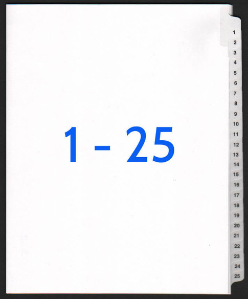 exhibitindexes.com V-SNS-1-25 dividers