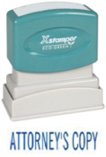 X-Stamper Brand Bule Self inking Stamp