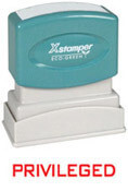 X-Stamper Privileged Stamp
