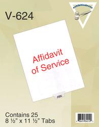Affidavit of Service Tabs