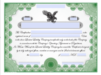 Printable LLC Share Certificates