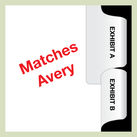 Avery exhibit tab