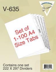 A4 Tabs 1-100