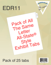 All-State®  Style EDR11 Side Exhibit Letters