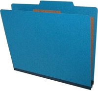 Legal Size Classification Folders 6 Sections Cobalt Blue