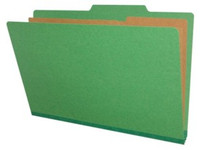 Legal Size Classification Folders 6 Sections Emerald Green