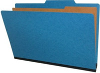 Legal Size Classification Folders 4 Sections Cobalt Blue