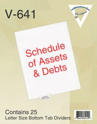 Schedule of Assets & Debts
