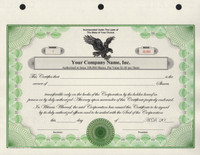 Custom Printed Corporate Stock Certificates