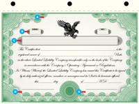 Custom Printed LLC Certificates