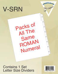 Packs of Individual Roman Numerals (pack of 25 of all the same number)