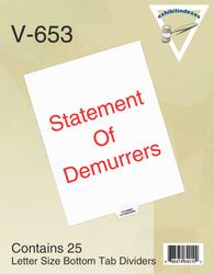 Statement of Demurrers