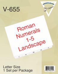 Roman Numerals I - V Landscape