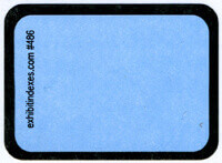 """Blank"" Blue Exhibit Labels #486 With Free Shipping"