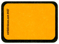 """Blank"" Golden Yellow Exhibit Labels #487"