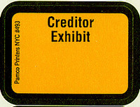 Creditor Exhibit Labels Golden Yellow #493 With FREE Shipping