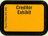 Creditor Exhibit Labels Golden Yellow #493