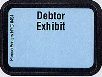 Debtor Exhibit Labels #494 With FREE Shipping