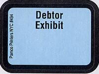 Debtor Exhibit Labels #494