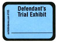 Defendant's Trial Exhibit Labels Blue #105