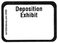 Deposition Exhibit Labels #480 With FREE Shipping