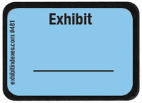 Exhibit Labels Blue #481