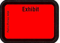 Exhibit Labels Fluorescent Red #484