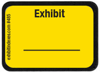Exhibit Labels Bright Yellow #485