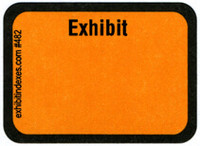 Exhibit Labels  Golden Yellow #482