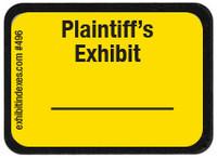 Plaintiff's Exhibit Labels Bright Yellow #496