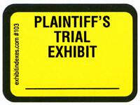 Plaintiff's Trial Exhibit Labels Bright Yellow #103