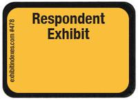 Respondent Exhibit Labels Golden Yellow #478