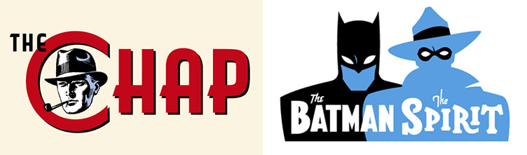 Rian Hughes logo - The Chap Magazine and Batman and the Spirit